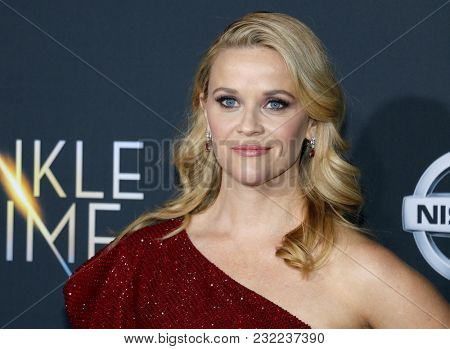 Reese Witherspoon at the Los Angeles premiere of 'A Wrinkle In Time' held at the El Capitan Theater in Hollywood, USA on February 26, 2018.