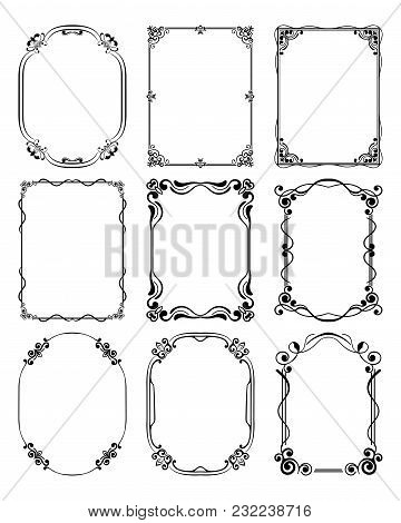 Set Of Vintage Frames With Beautiful Filigree Ornamental Frame, Decorative Ornate Vintage Borders, R