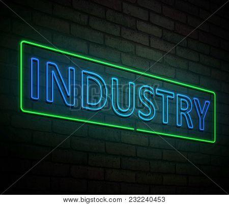 Neon Industry Concept.