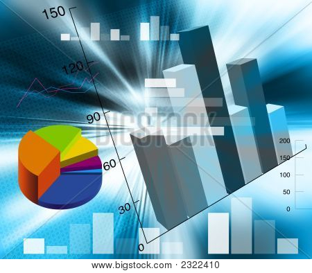 an illustration of accounts bar charts in different colors poster