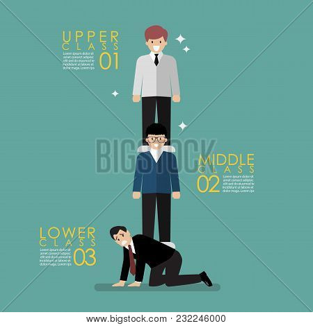 Social Class Concept. Vector Illustration Graphic Design