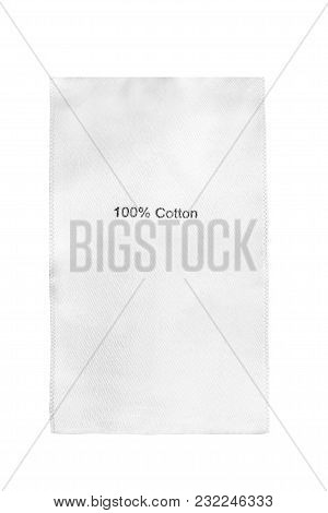 Fabric Composition Textile Clothes Label On White Background