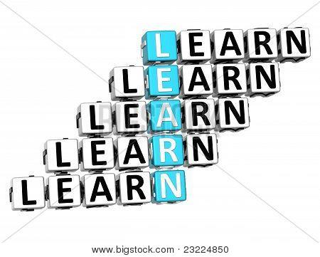 3D Learn Crossword