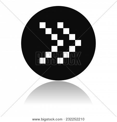 Arrow Icon. Dotted Double Icon Or Fast Forward Black Button. Vector Illustration On White Background