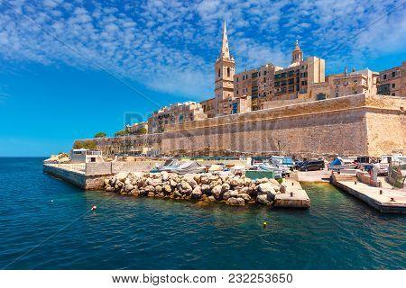 Valletta Skyline In Sunny Day, Malta