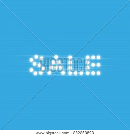 Supper Sale Speed Icon On The Blue Background, Vector