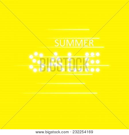 Supper Sale Speed Icon On The Yellow Background, Vector