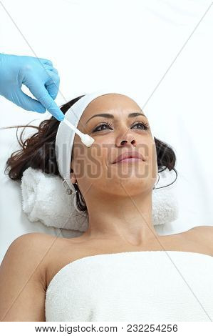 Young Woman Have Treatment In Beauty Clinic