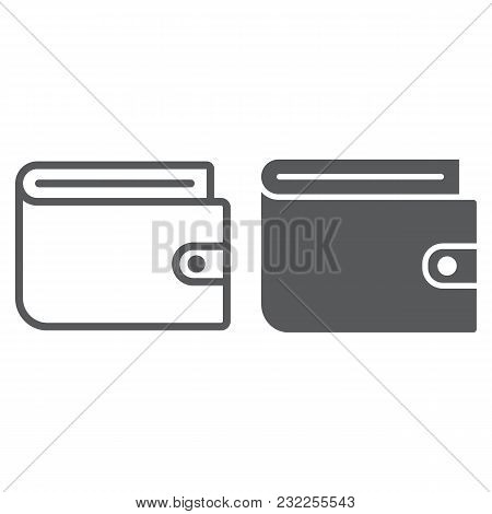 Wallet Line And Glyph Icon, E Commerce And Marketing, Purse Sign Vector Graphics, A Linear Pattern O
