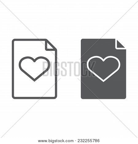 Wish List Line And Glyph Icon, E Commerce And Marketing, Document Sign Vector Graphics, A Linear Pat