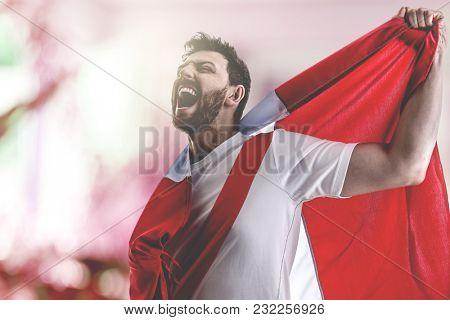 Peruvian soccer player celebrating