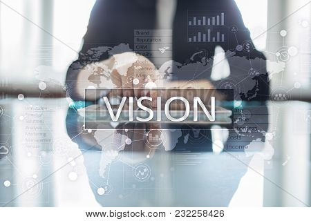 Vision Concept. Business, Internet And Technology Concept