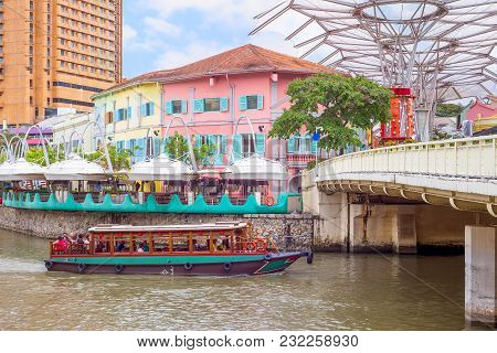Landscape Of The Clarke Quay In Singapore