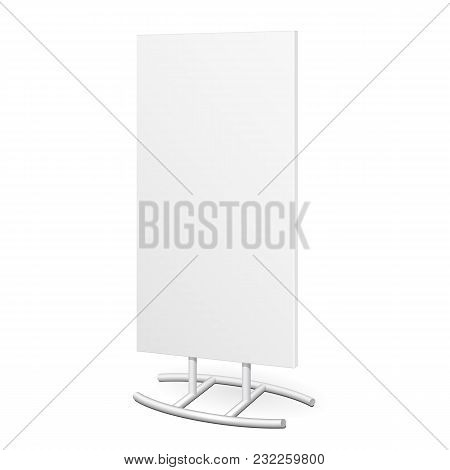 Outdoor Indoor Stander Advertising Stand Banner Shield Display, Advertising. Mockup, Mock Up, Templa