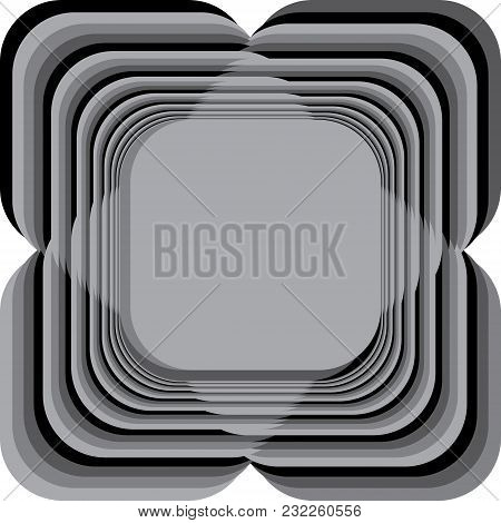 Abstract Frame Four Gray Shaddows Including Black Repetitive Pattern Background