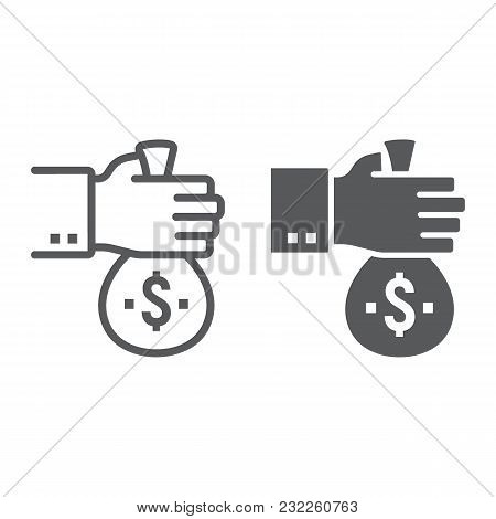 Investment Line And Glyph Icon, Development And Business, Finance Sign Vector Graphics, A Linear Pat