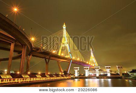 Bhumibol Bridge Samut Prakarn, Thailand