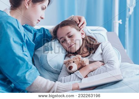 Mother Watching Over Little Girl