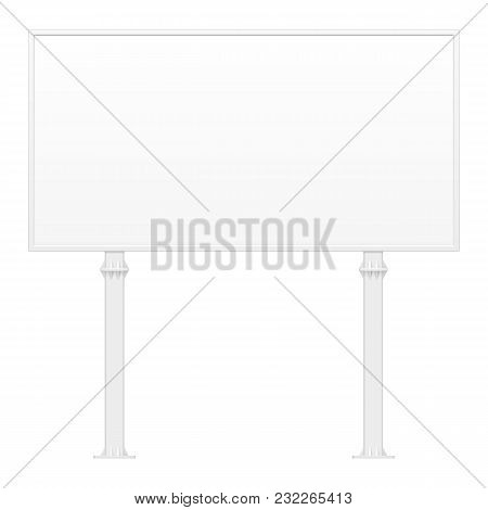 Outdoor Indoor Billboard Advertising Banner Shield Panel Display, Advertising. Mock Up Products On W
