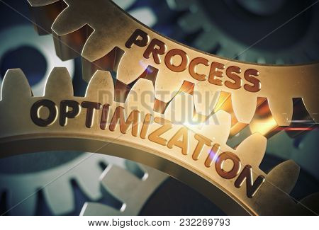 Process Optimization - Illustration With Glow Effect And Lens Flare. Process Optimization - Technica