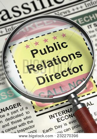 Column In The Newspaper With The Jobs Of Public Relations Director. Public Relations Director - Vaca