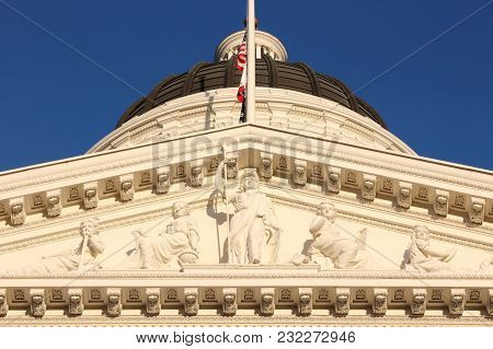California State Capitol Building In Sacramento, United States.