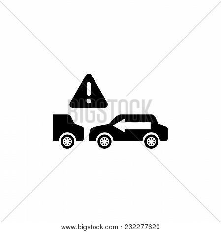 Keep Safe Distance. Flat Vector Icon. Simple Black Symbol On White Background