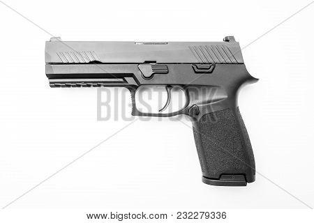 Isolated Handgun On White Background