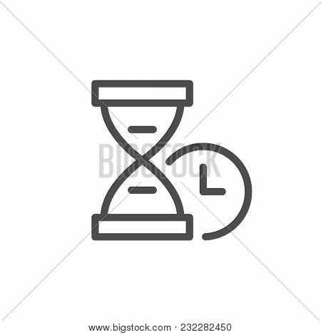 Time Line Icon Isolated On White. Vector Illustration