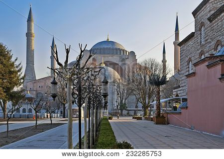 Istanbul, Turkey - March 24, 2012: Hagia Sophia Muzesi In Early Morning.