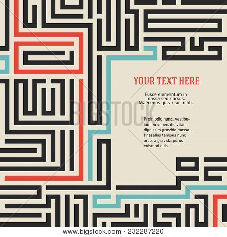 Maze Vintage Background Design Elements Advertising Flyer02