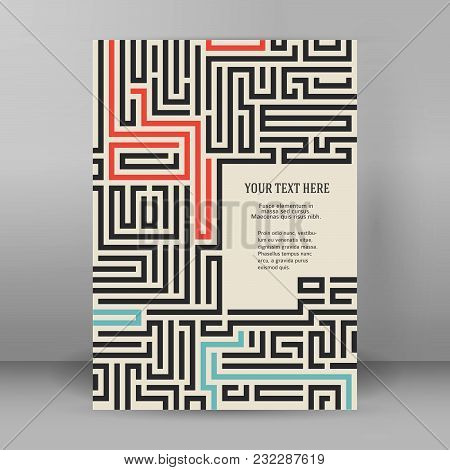 Maze Vintage Background Design Elements Advertising Flyer07