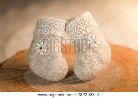 Decorative Souvenir, Handmade Felt Boots