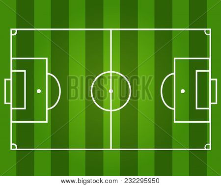 Football Field. Green Background. Colourful Vector Illustration