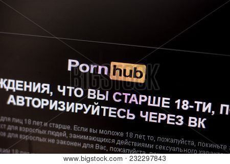 Ryazan, Russia - March 01, 2018 - Homepage Of Pornhub Website On The Display Of Pc
