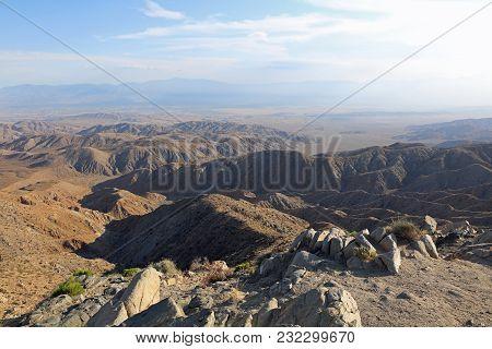 Coachella Valley in Joshua Tree National Park. California. USA poster