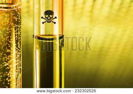 Novichok Posion Sample In Small Glass Tube