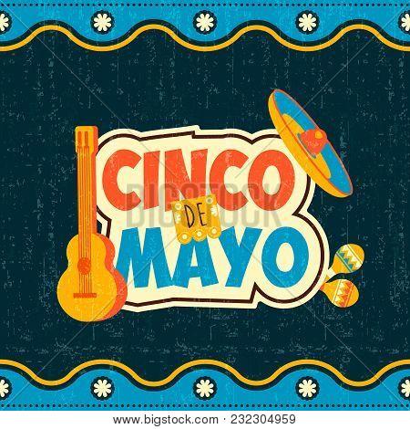 Mexican Cinco De Mayo Typography Quote Poster