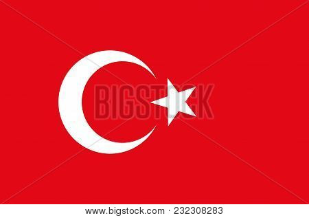 Turkish National Flag, Official Flag Of Turkey Accurate Colors, True Color