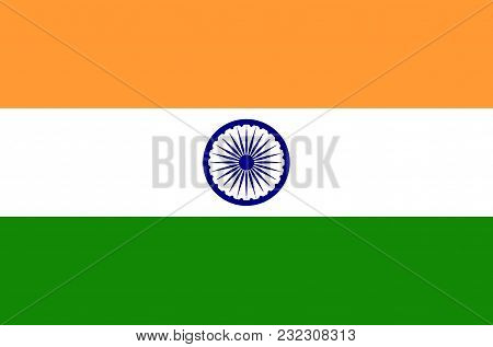 Indian National Flag, Official Flag Of India Accurate Colors, True Color