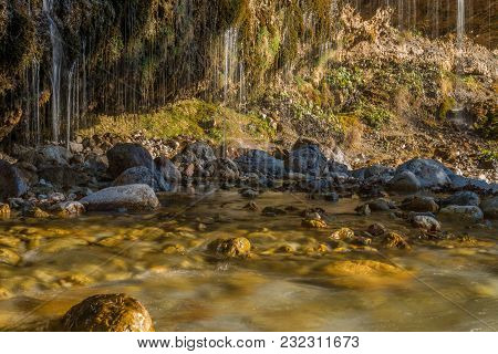 Image Of A Water Curtain In Maria Alm, Austria