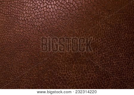 The Luxury Brown Leather Texture Background Close Up.