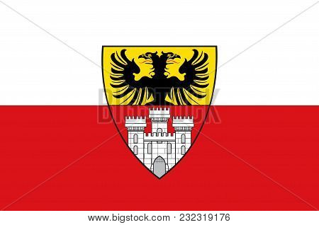Flag Of Duisburg Is A City In North Rhine-westphalia, Germany. Vector Illustration