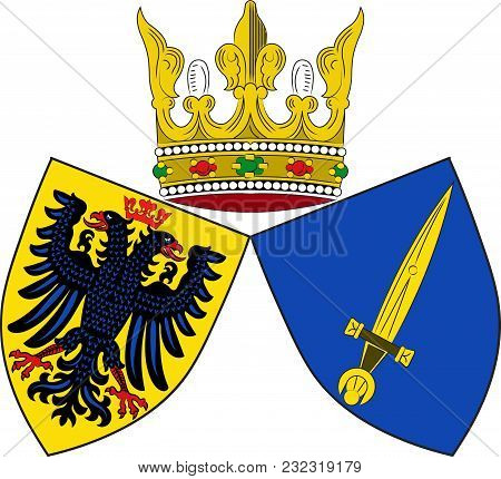 Coat Of Arms Of Essen Is A City In North Rhine-westphalia, Germany. Vector Illustration