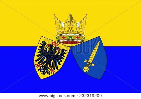 Flag Of Essen Is A City In North Rhine-westphalia, Germany. Vector Illustration