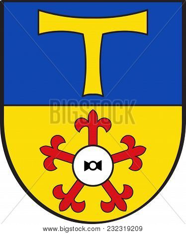 Coat Of Arms Of Bedburg-hau Is A Municipality In The District Of Cleves In The State Of North Rhine-