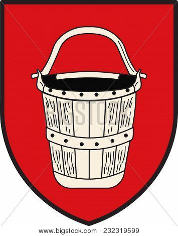 Coat Of Arms Of Emmerich Is A City On The Lower Part Of The River Rhine In The Northwest Of The Germ