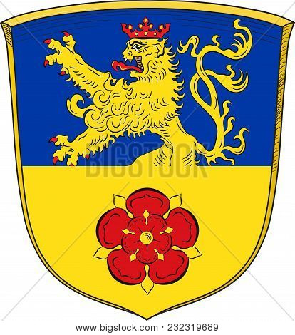 Coat Of Arms Of Goch Is A Town In The District Of Kleve, In North Rhine-westphalia, Germany. Vector