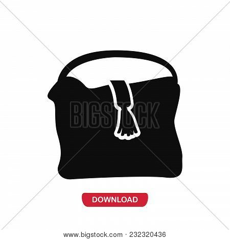 Female Handbag Icon Vector In Modern Flat Style For Web, Graphic And Mobile Design. Female Handbag I