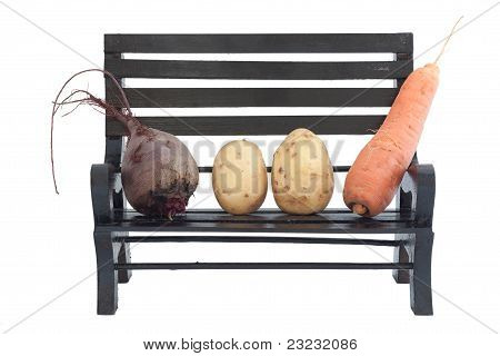 Vegetables On A Bench